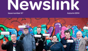 A cover of Newslink newsletter