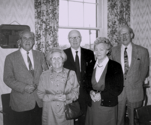 Black and white photo of ENABLE Scotland's founding members
