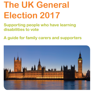 Cover for Guide for family carers supporting people who have learning disabilities to vote