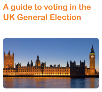 Cover for easy read factsheet on voting