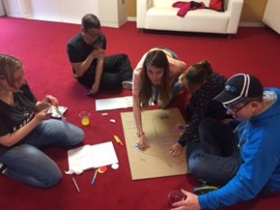 A group of young people who have a learning disability working on a campaign