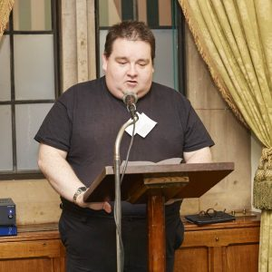 Man who has a learning disability speaking to politicians at Westminster
