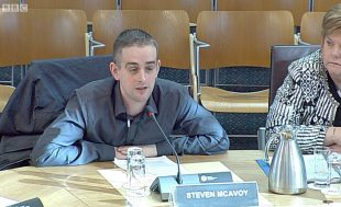 ENABLE Scotland's Welfare Rights Adviser Steven McAvoy giving evidence to Social Securities Committee