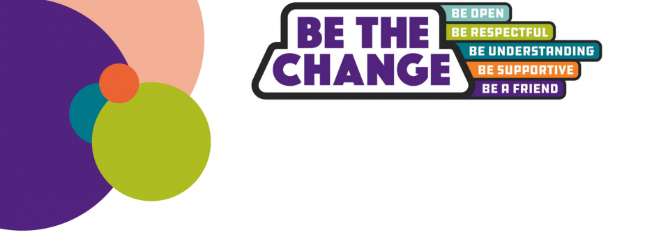 Be the change campaign logo